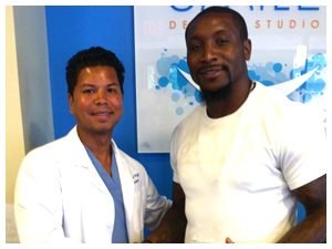 Dr. Wright with NaVorro Bowman