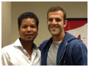 Dr. Wright with Daniel Woolard