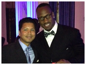 Dr. Wright with Vernon Davis