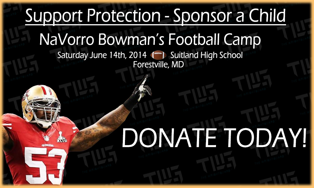 Navorro Bowman, Michael Wright DDS, Sports mouthguard